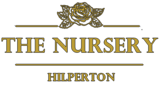 The Nursery Hilperton Gold with Rose logo