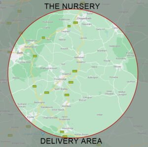 The Nursery Garden Centre Delivery Area Map