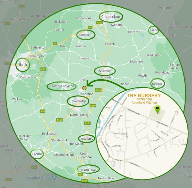 The Nursery Location Map