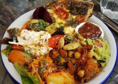 Garden Centre Cafe Quiche Salad