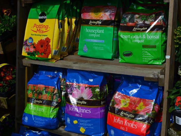 The Nursery Garden Centre Compost Bags On Shelves