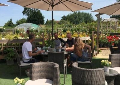 Garden Centre Cafe Outside with friends